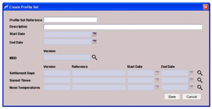 Profile building - Create profile screenshot