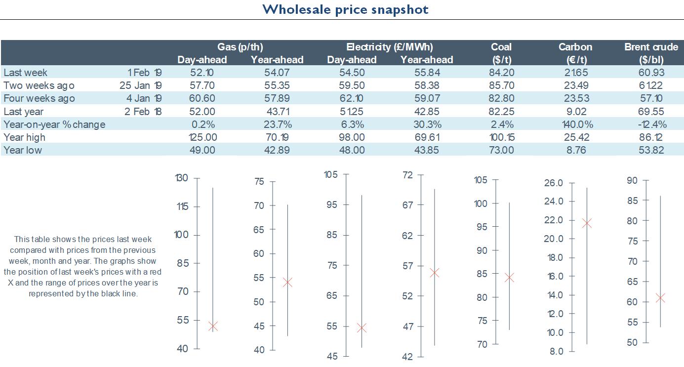 Electricity Retail - Wholesale Market Review 01.02.2019