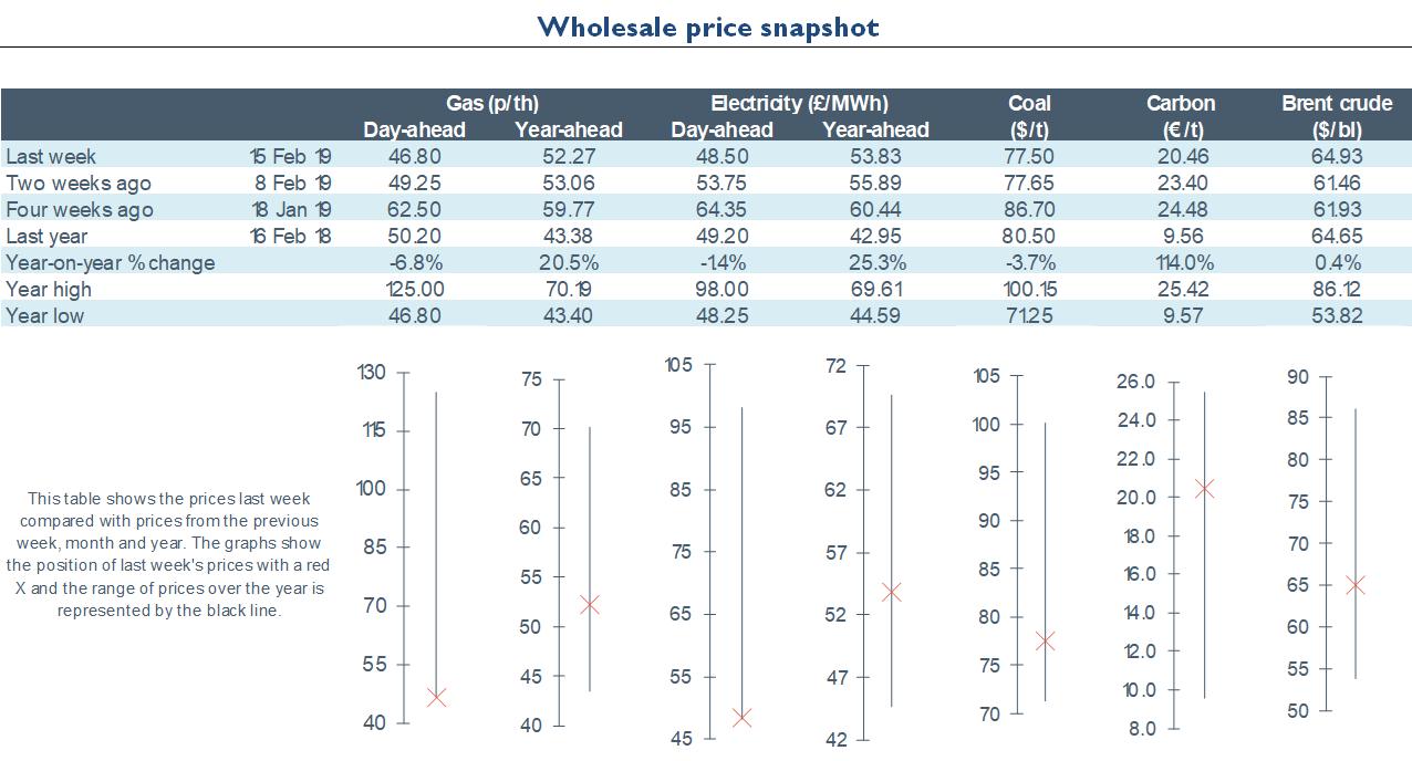 Electricity Retail - Energy Wholesale Market Review 15.02.2019