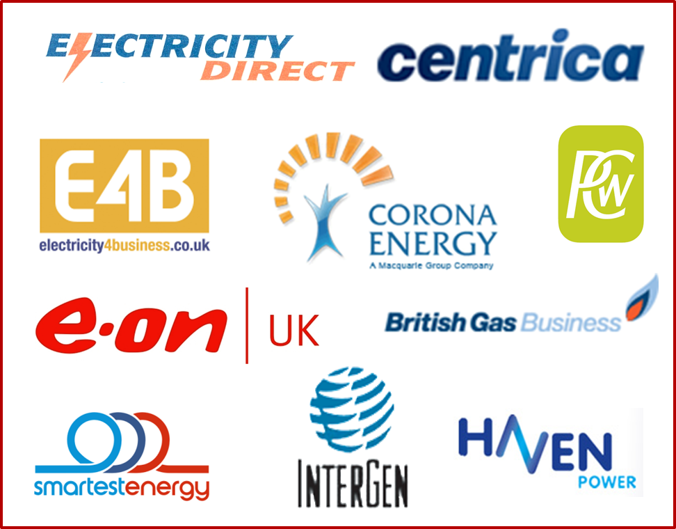 Electricity Suppliers - Customer logos